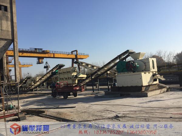 焦作中州铝厂型煤压球生产线